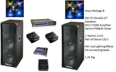 DJ Equipment Hire Package C