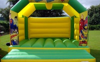 Large Super Heroe Bouncy Castle Hire