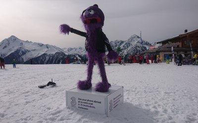 You want your brand mascot  up a mountain