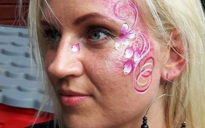 Cherry Drop Face Painting and Body Art 3