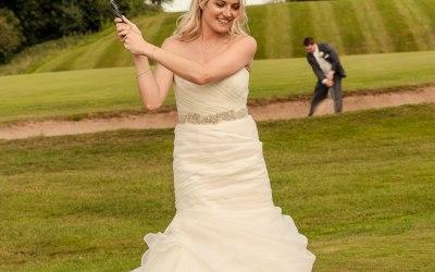 GCG Photography - Golfing Bride & Groom