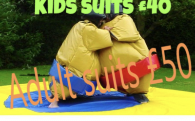 Adult and junior sumo suits
