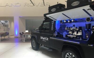 Land Rover coffee vehicle machine