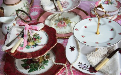 Beautiful vintage cake stands