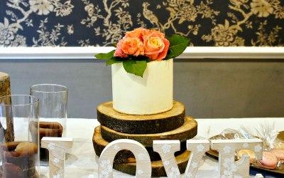 Rustic theme wedding setting