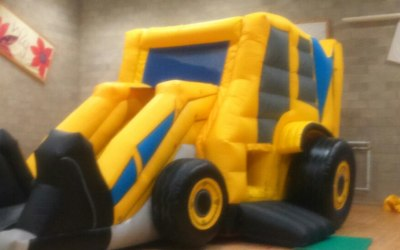 JCB digger bouncy castle