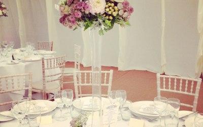 Tall arrangement in vintage shades