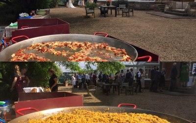giant paella catering wedding loughborough