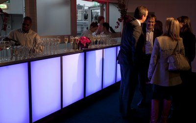 Contempory LED mobile bar units Nicks Mobile Bar 1