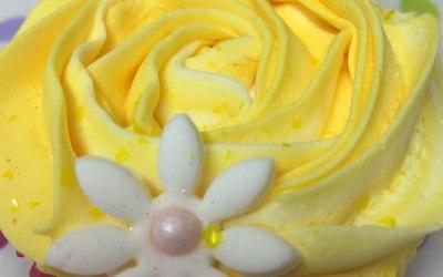 Spring time yellow rose cupcake