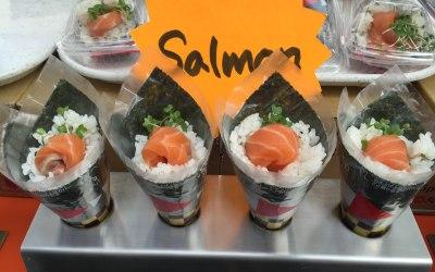 Salmon Temaki Hand Roll Sushi