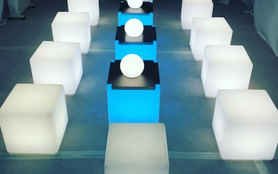 LED Furniture Hire - LED Globes, Spheres and Tables