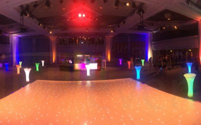 LED Furniture and White Stalit Dance Floor