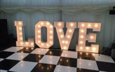 Giant Illuminated LOVE Letters