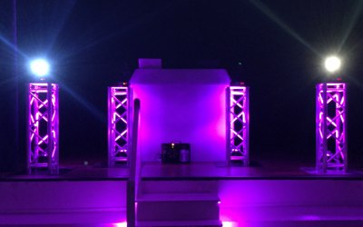 Gold DJ Hire Package With Truss Plinths
