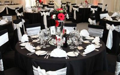 Black & white wedding at Selden Barn
