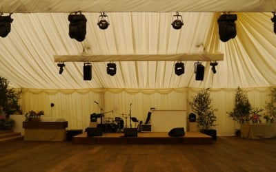 Wedding Stage, sound and lighting