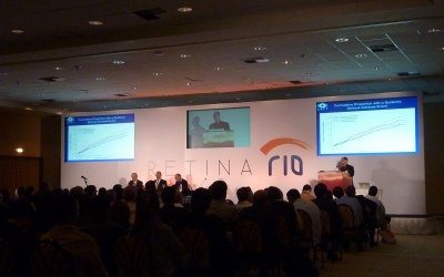 3 screen stage set in Rio for medical conference