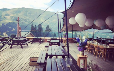 Intent Productons Ltd - Wedding stretch tent in the Alps