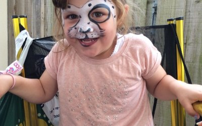 Get Doodled Newquay Face Paint spotty dog