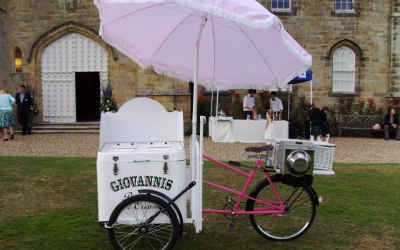 wedding ice cream bicycle hire