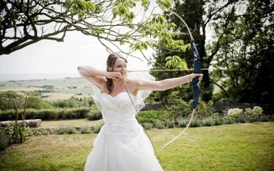 Wedding day archery
