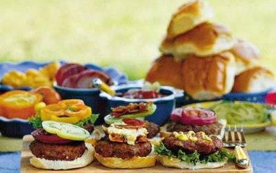 Summer BBQ Burger Bar.