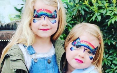 Butterfly Face Painting. Impeccable Parties. Coventry Face Painter. Warwickshire Face Painter
