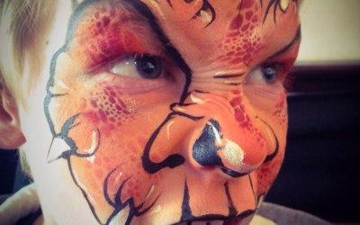 Dinosaur dragon face paint design littlestarfaces