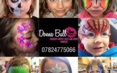 Face painting Donna Bull Makeup artist