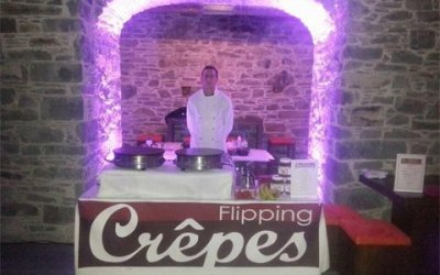 Flipping Crepes wedding Carriage rooms