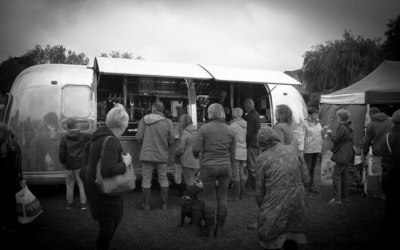 A wet and windy day at the village fete