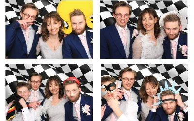 4 up layout greenscreen photo template example Photo booth hire Birmingham