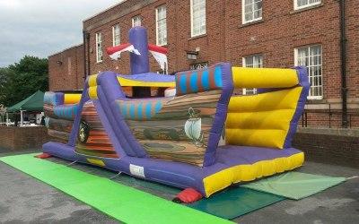 Pirate Ship Fun Run Bouncy Castle Hire