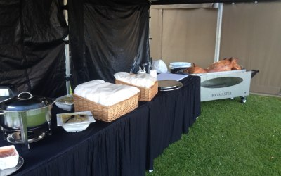 Professional Hog Roast Set up