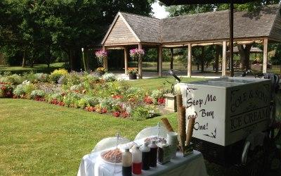 Ice cream tricycle at Mangapp Manor, Burnham