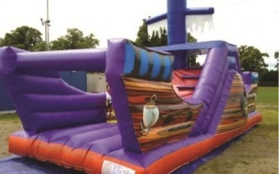 Pirate ship bouncy castle