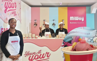 Frozen yoghurt bar hospitality for expo stand