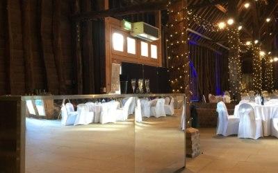 Mirrored Bar At A Wedding
