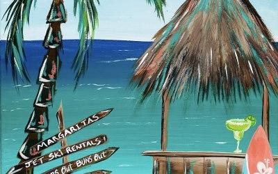 """Acrylic painting """"Summer paradise"""""""
