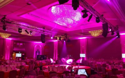 This is a typical event for us the Hilton Park Lane Ballroom