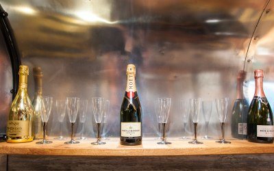 Prosecco Moet and Bollinger Champagne