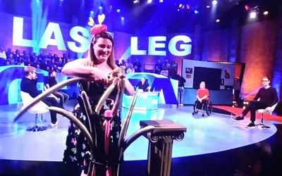 I made an appearance on tv show The Last Leg on channel 4