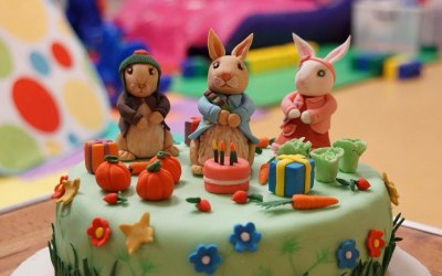 Peter Rabbit Birthday Cake.