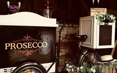 Prosecco tricycle bars