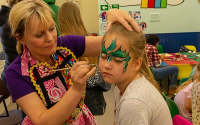 Face Painting Dragon By Rainbow Faces Ltd at Dragon Fest