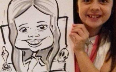 Children's event caricature