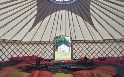 24ft Yurt Interior, furnishing not inc.