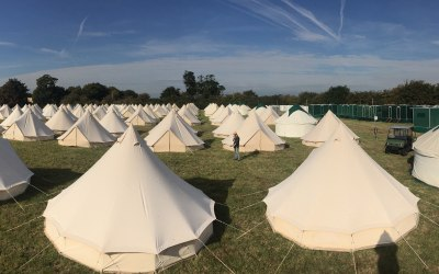 Our Bell Tents are perfect for small to large scale events.