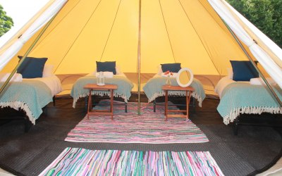 Bell Tents, suitable for 2-6 people sharing